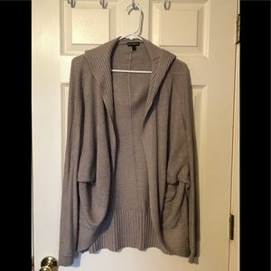 Express long hooded sweater size large